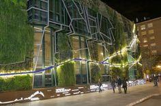 Electrifying vertical garden designed for the Palacio de Congresos Europa in Vitoria-Gasteiz, Spain