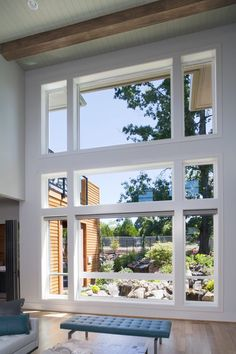 True Craft baseboard was applied as casing to frame this window and beautiful view.