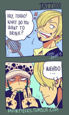 That's One Way to Place an Order anime-one-piece-trafalgar-law-drink-order-funny One Piece Manga, One Piece Meme, One Piece Figure, One Piece Comic, One Piece Fanart, One Peice Anime, One Piece Funny Moments, Otaku Anime, Manga Anime