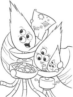 Family Alien Coloring Page