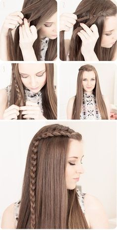 cute easy hairstyles for long hair in 9 ~ thereds.me- cute easy hairstyles for long hair in 9 ~ thereds.me cute easy hairstyles for long hair in 9 ~ thereds. Easy Hairstyles For Long Hair, Braids For Long Hair, Ponytail Hairstyles, Cute Hairstyles, Braids Easy, Beautiful Hairstyles, Teenage Hairstyles, Side Braids, Makeup Hairstyle