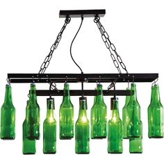 Hängelampe Beer Bottles
