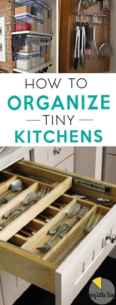 Tiny kitchen?  No problem!  Organize your home with these great tips for small kitchens.