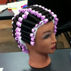 My grandma got nothing on me! This is a basic 9 section perm :)