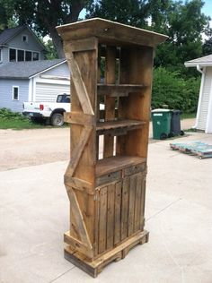 Pallet Hutch in pallet home decor pallet furniture  with pallet Indoor furniture Hutch crate