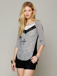 We The Free Mix Up Hacci Tee http://www.freepeople.com/whats-new/we-the-free-mix-up-hacci-27360411/
