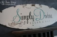 VINTAGE BUSINESS SIGN, Craft Vendor Sign, Vintage Advertising, Hand Painted Sign, No Vinyl, Shabby Chic Decor