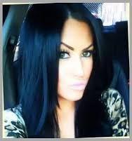 Resultado de imagem para black blue long hair