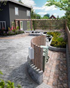 Slik får du drømmegårdsplassen i stein - Byggmakker Porch Veranda, Hanging Canvas, Backyard, Patio, Home Office Design, Artist Canvas, Garden Projects, Garden Inspiration, Curb Appeal