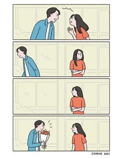 Uploaded by silvia. Find images and videos about love, couple and flowers on We Heart It - the app to get lost in what you love. Love Cartoon Couple, Cute Couple Comics, Couples Comics, Cute Couple Art, Anime Love Couple, Cute Comics, Anime Couples, Cute Couples, Sundae Kids