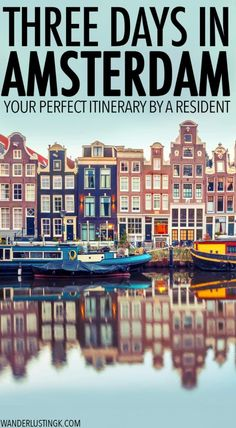 First Time Guide to Amsterdam: Three Days in Amsterdam itinerary by a resident Travel tips 2019 Visiting Amsterdam? Your insider guide to Amsterdam by a resident with a complete Amsterdam itinerary for three days in Amsterdam with a map. Europe Destinations, Europe Travel Tips, European Travel, Travel Guides, Holiday Destinations, Italy Travel, Travelling Europe, Shopping Travel, Backpacking Europe