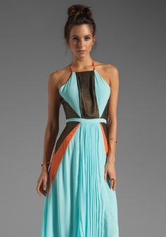 SUBOO Pleated Maxi Dress in Nostalgic Light at Revolve Clothing