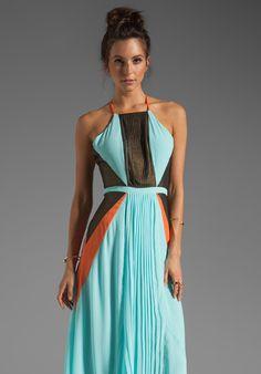 SUBOO Pleated Maxi Dress in Nostalgic Light at Revolve Clothing