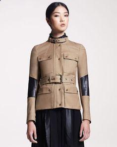 Peterlee Leather-Trim Jacket by Belstaff at Bergdorf Goodman.