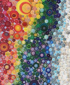 Bottle Cap Mural - Earlier this week I spent one of the warmer days exploring a local beach and I stumbled upon this amazing mural.  It wasn't until I got close to it that I realized it was made from thousands of plastic bottle tops.  Such a great way to give those very wasteful plastic bottles a second life…upcycling at it's best.