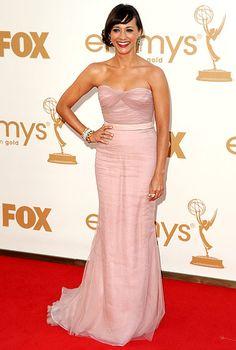 Rashida Jones looked stunning in the Alberta Ferreti gown she wore to the 2011 Emmy Awards