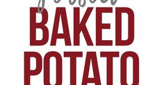 Perfect Baked Potato | Recipe | Perfect baked potato, The o'jays and Potato recipes