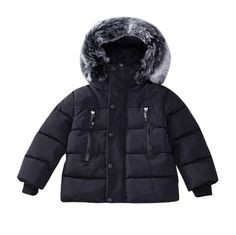 979ef584b3dbc Baby Girl Boy Winter Cotton Hooded Coat Jacket Thick Warm Zipper Outwear  Clothes Attention plz