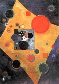 Wassily Kandinsky - Accent en Rose.  1926.  J'adore ce tableau, d'ailleurs j'ai fait mon oral d'histoire des arts dessus.