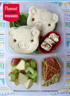 3 for 3 challenge Lunch Challenge that help keeping packing lunches easy and nutritious (Peanut or nut butter, apples & celery)