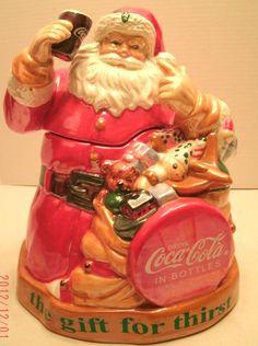 Coca-Cola Holiday Cookie Jar Coca Cola Coke #coca-cola