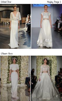 12 Vestidos de noiva Crop top