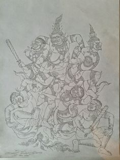 Fighting Khmer Tattoo, Thai Tattoo, Thailand Art, Samurai Tattoo, Thai Art, Thai Style, Religious Art, Art Reference, Graphic Art
