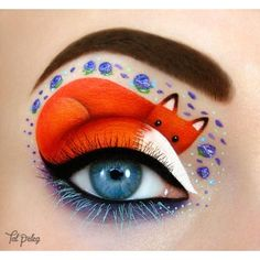 Eye-art by Tal Peleg ❤ liked on Polyvore featuring beauty products, makeup, eye makeup and animal makeup