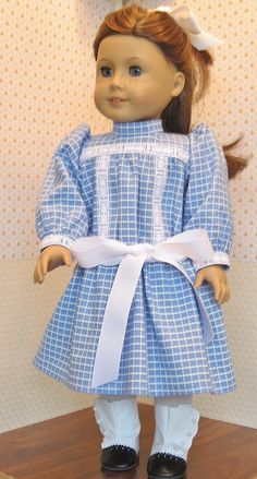 Play Dress and Pinafore for American Girl Doll Samantha. $54.00, via Etsy.