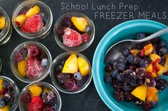 School Lunch Prep: Freezer School Lunches - make ahead quesadillas, fruit compote, pasta and meatballs