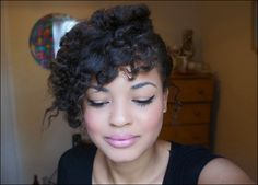 Side Swept Flat Twist- Out on Straightened Natural Hair 4a, 4b, hair