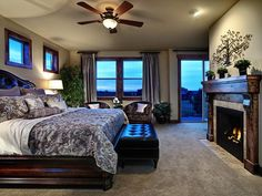 Old-world Bedrooms from Celebrity Communities on HGTV...love the set up but w/ different colors