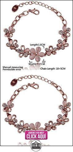 Kola Korean Opal Rose Gold Flower Bracelet  ✿ Joyas para mujer - Las mejores ofertas ✿ ▬► Ver oferta: http://comprar.io/goto/B00OYTR7V8