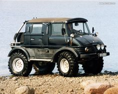 Mercedes Unimog. We saw one of these up at the highlakes...