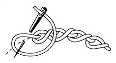 Twisted chain stitch.