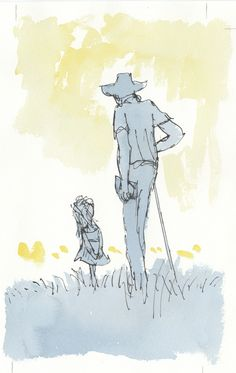 Quentin Blake illustrations- Dahl and little girl