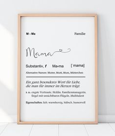 Art print Mama definition with heart Kunstdruck MAMA Definition mit Herz & Etsy The post Art print Mama definition with heart appeared first on Dekoration. Diy Mothers Day Gifts, Mothers Day Quotes, Diy Gifts, Easy Diys For Kids, Diy Crafts For Adults, Gifts For Coworkers, Gifts For Kids, Sister Definition, Mother's Day Diy