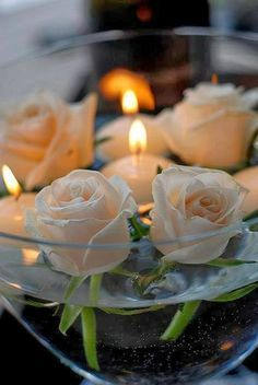 Floating   Candles   Roses