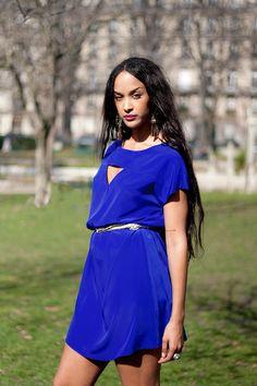 Ma robe fétiche : la robe trévise bleue by Laure DERREY - made in france & personnalisable