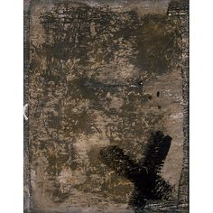 """Grey and Black Cross. No. XXVI, 1995. """"As I go along with my work I formulate my thought, and from this struggle between what I want and the reality of the material—from this tension—is born an equilibrium."""" —Antoni Tàpies"""