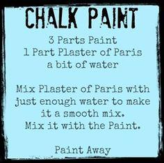 Chalk Paint recipe