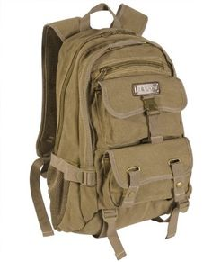 Eurosport Canvas Stylish Backpack Day Pack B705 Khaki. ONE SIZE by Eurosport, http://www.amazon.com/dp/B009XOYJSS/ref=cm_sw_r_pi_dp_3aKnrb0ZBY942