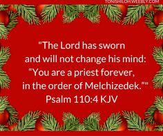 Psalm 110:4 KJV