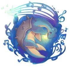 Lapras used Perish Song! Lapras Pokemon, Pokemon One, Pokemon Stuff, Pikachu, Pokemon Champions, Names Of Artists, Fanart, Catch Em All, Cute Illustration