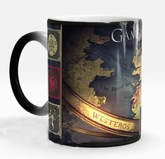 game of thrones mugs house stark coffee mug Heat transfer mugs transforming cup cold hot heat changing color magic mug tea cups