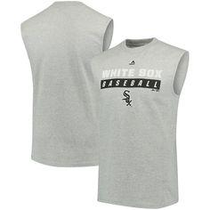 Chicago White Sox Majestic Proven Pastime Sleeveless T-Shirt - Gray