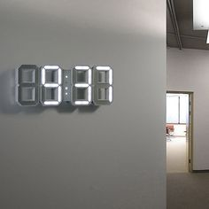 LED Wall Clock by KIBARDINDESIGN | MONOQI #bestofdesign