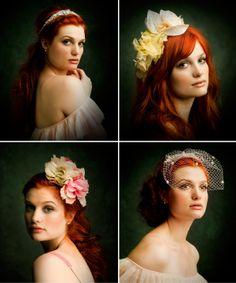 Awesome bridal headpieces by ban.do via stumbleupon