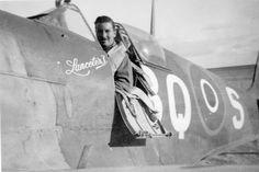 Spitfire Mk.Vc/trop. JK778/BQ-S Lanceter I. 451 Squadron, R.A.A.F. El Daba, Oct., 1943,  Flt.Lt. Wally gale in the cockpit