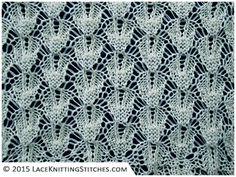 LACE KNITTING #15 | Shaped Diamonds stitch